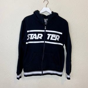 STARTER Spell Out Logo Zip Up Hoodie